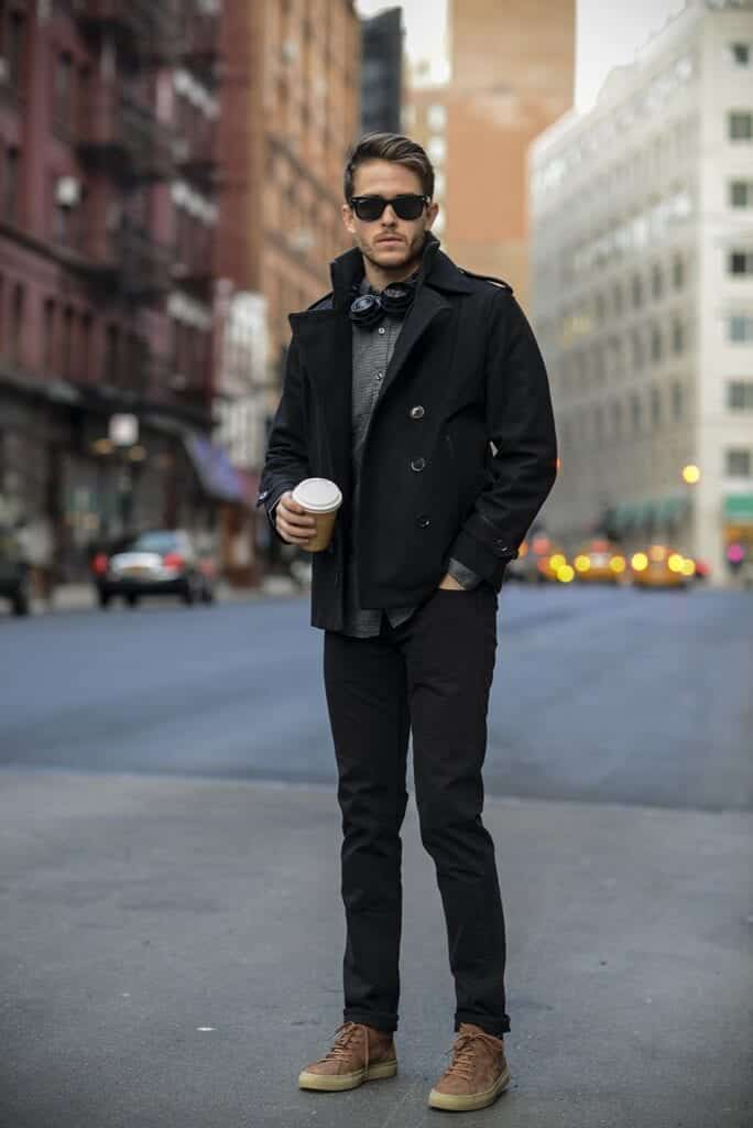 Men-Peacoat-Outfit16-684x1024 Men Peacoat Outfits – 20 Ways to Wear a Peacoats for Guys