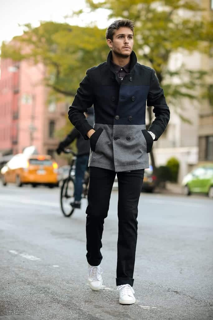 Men-Peacoat-Outfit18-684x1024 Men Peacoat Outfits – 20 Ways to Wear a Peacoats for Guys
