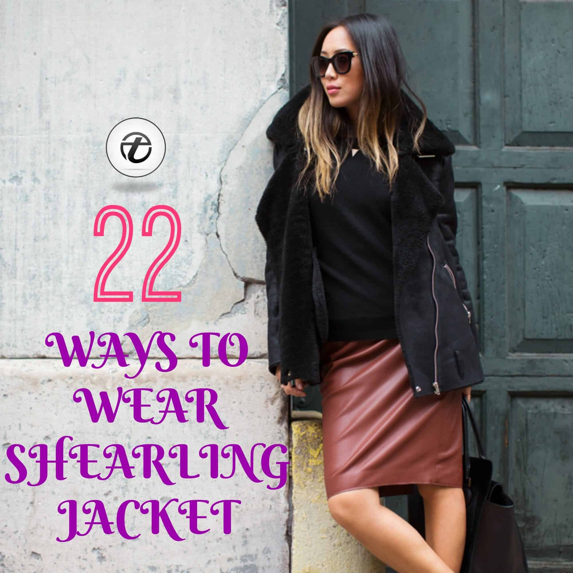 how to wear shearling coat