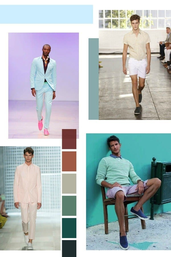 Shoes-with-Pastel-Ensemble Men Pastel Outfits- 23 Ways to Wear Pastel Outfits for Guys