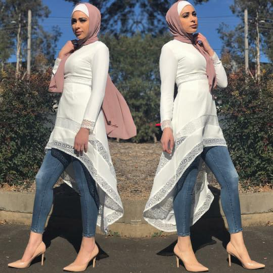 hijab-dress-with-jeans 30 Stylish Ways to Wear Hijab with Jeans for Chic look