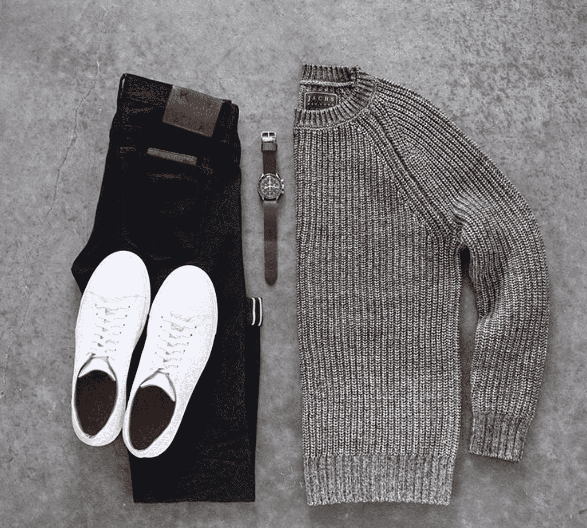 men-sweater-outfits Men Outfits with Blue Jeans-27 Ways to Style Guys Blue Jeans