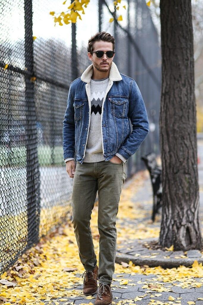 shh2-683x1024 Men Shearling Jacket Outfits-22 Ways To Wear Shearling Jacket