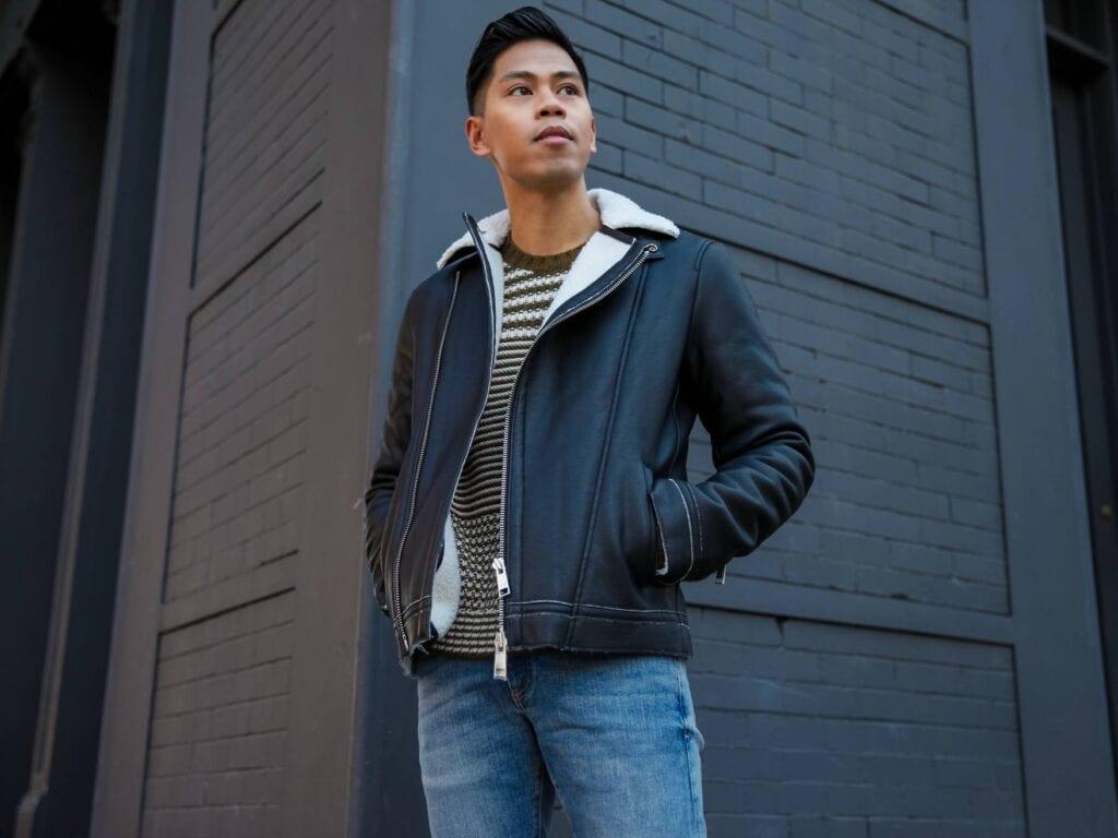 shh5-1024x768 Men Shearling Jacket Outfits-22 Ways To Wear Shearling Jacket