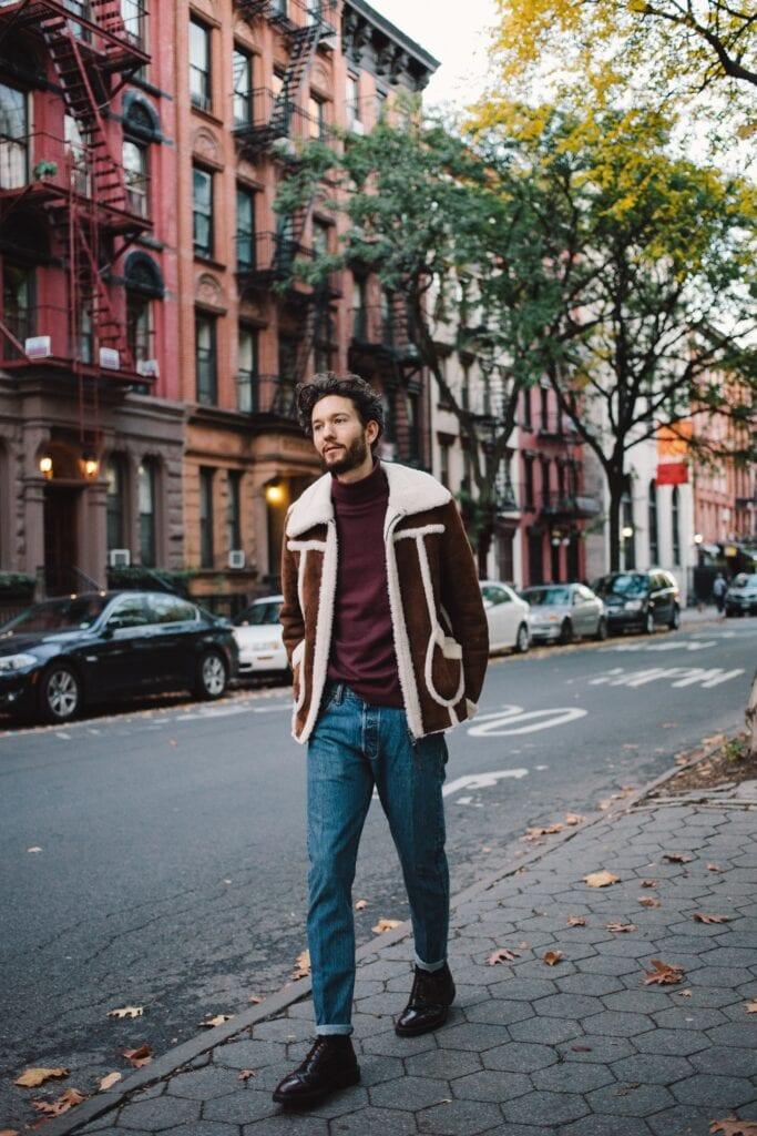 shh9-683x1024 Men Shearling Jacket Outfits-22 Ways To Wear Shearling Jacket