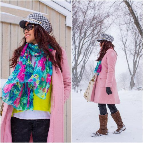 Floral-Scarves-for-Winters-500x500 Outfits with Scarves - 26 Ways to Wear a Scarf this Winter