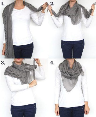 Muffler-Style-Scarf-410x500 Outfits with Scarves - 26 Ways to Wear a Scarf this Winter
