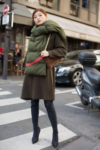 Puffy-Scarves-for-Fall-334x500 Outfits with Scarves - 26 Ways to Wear a Scarf this Winter