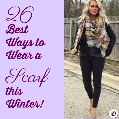 Scarf-this-Winter-500x500 Outfits with Scarves - 26 Ways to Wear a Scarf this Winter