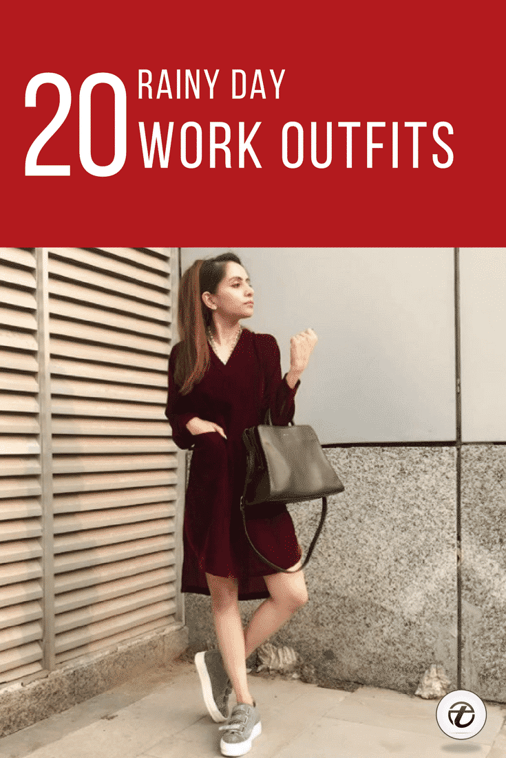 WHAT-TO-WEAR-TO-WORK-WHEN-ITS-RAINING 20 Outfit Ideas on What to Wear to Work When It's Raining