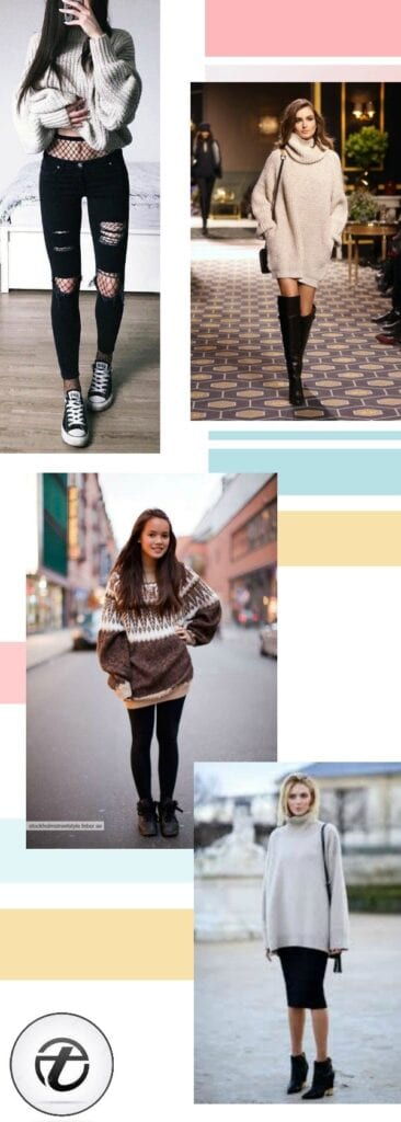 What-to-Wear-with-Oversized-Sweaters-366x1024 20 Outfit Ideas on What to Wear to Work When It's Raining