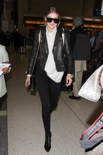 Biker-Girl-Look-for-Airport-333x500 27 Best Winter Travel Outfits for Women Trending these Days