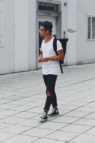 Bohemian-Look-with-Converse-Chuck-Taylors-333x500 28 Best Ideas on How to Wear Converse Shoes for Guys