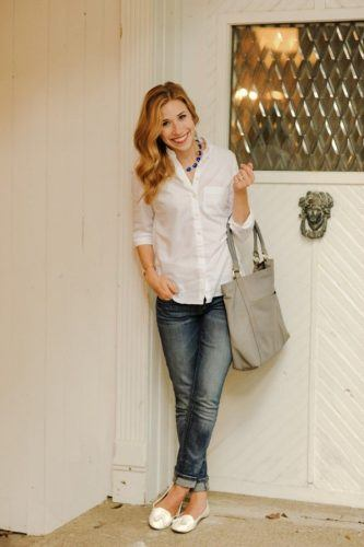 Casual-Jeans-Work-Look-for-Summers-333x500 Wearing Business Casual Jeans-21 Ways to Wear Jeans at Work