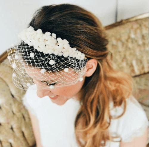 Cute-Cage-Veil-Headband-500x495 Bridal Birdcage Veil- 20 Best Ideas on How to Wear Cage Veil