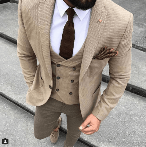 Black Knitted Tie And Pocket Square