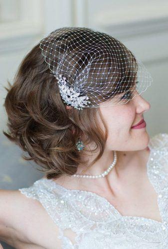 Elegant-Bandeau-Veils-337x500 Bridal Birdcage Veil- 20 Best Ideas on How to Wear Cage Veil
