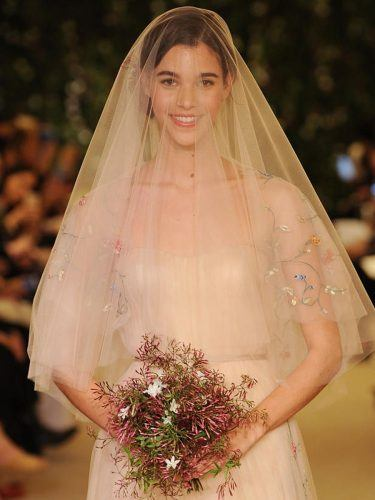 Embroidered-Caged-Wedding-Veils-375x500 Bridal Birdcage Veil- 20 Best Ideas on How to Wear Cage Veil