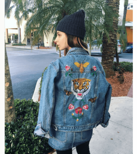 Embroidered-Denim-Jackets--447x500 27 Best Winter Travel Outfits for Women Trending these Days