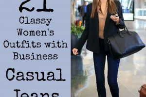 Women's Outfits with Business Casual Jeans (11)