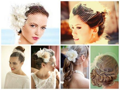 Perfect-Hair-Dos-with-Birdcage-Veil-500x375 Bridal Birdcage Veil- 20 Best Ideas on How to Wear Cage Veil
