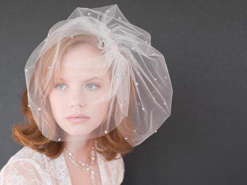 Vintage-Caged-Veil-500x375 Bridal Birdcage Veil- 20 Best Ideas on How to Wear Cage Veil