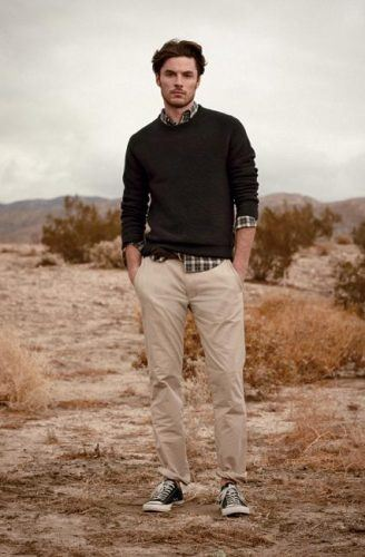 Khakis-and-Sneakers-for-Teenage-Boys-328x500 12 Pro Tips for Men-How to Wear Black Shoes With Khaki Pants