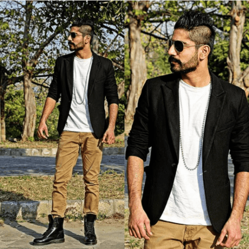 Perfect-Streetstyle-with-Khakis-and-Black-Boots-500x500 12 Pro Tips for Men-How to Wear Black Shoes With Khaki Pants
