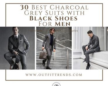 Charcoal Grey Suits with Black Shoes For Men (1)