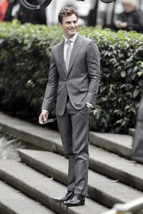 Charcoal Grey Suits with Black Shoes For Men (27)