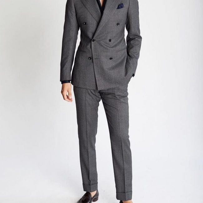 Charcoal Grey Suits with Black Shoes For Men (25)
