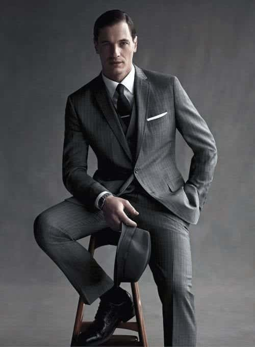 Charcoal Grey Suits with Black Shoes For Men (24)