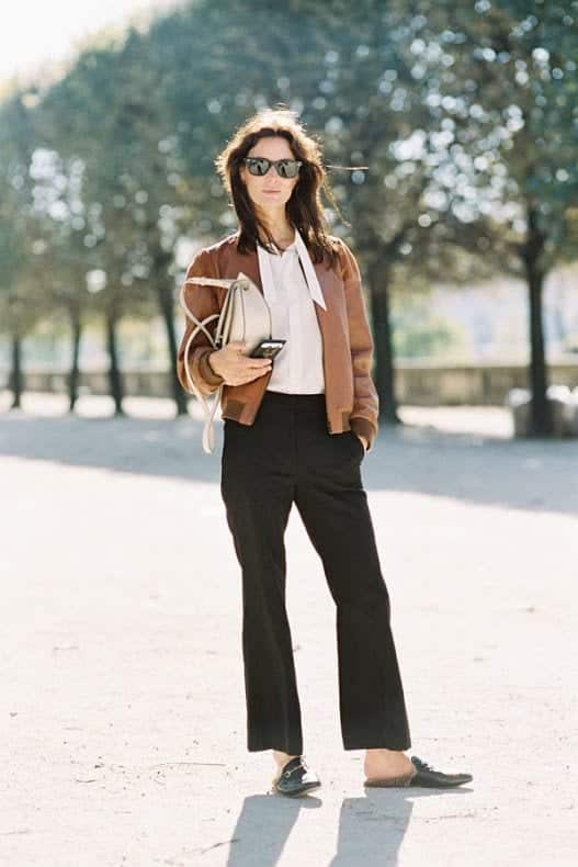 Leather-Bomber-Jacket11 21 Best Leather Bomber Jacket Outfits for Women