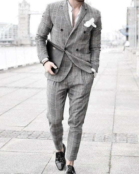 Charcoal Grey Suits with Black Shoes For Men (7)