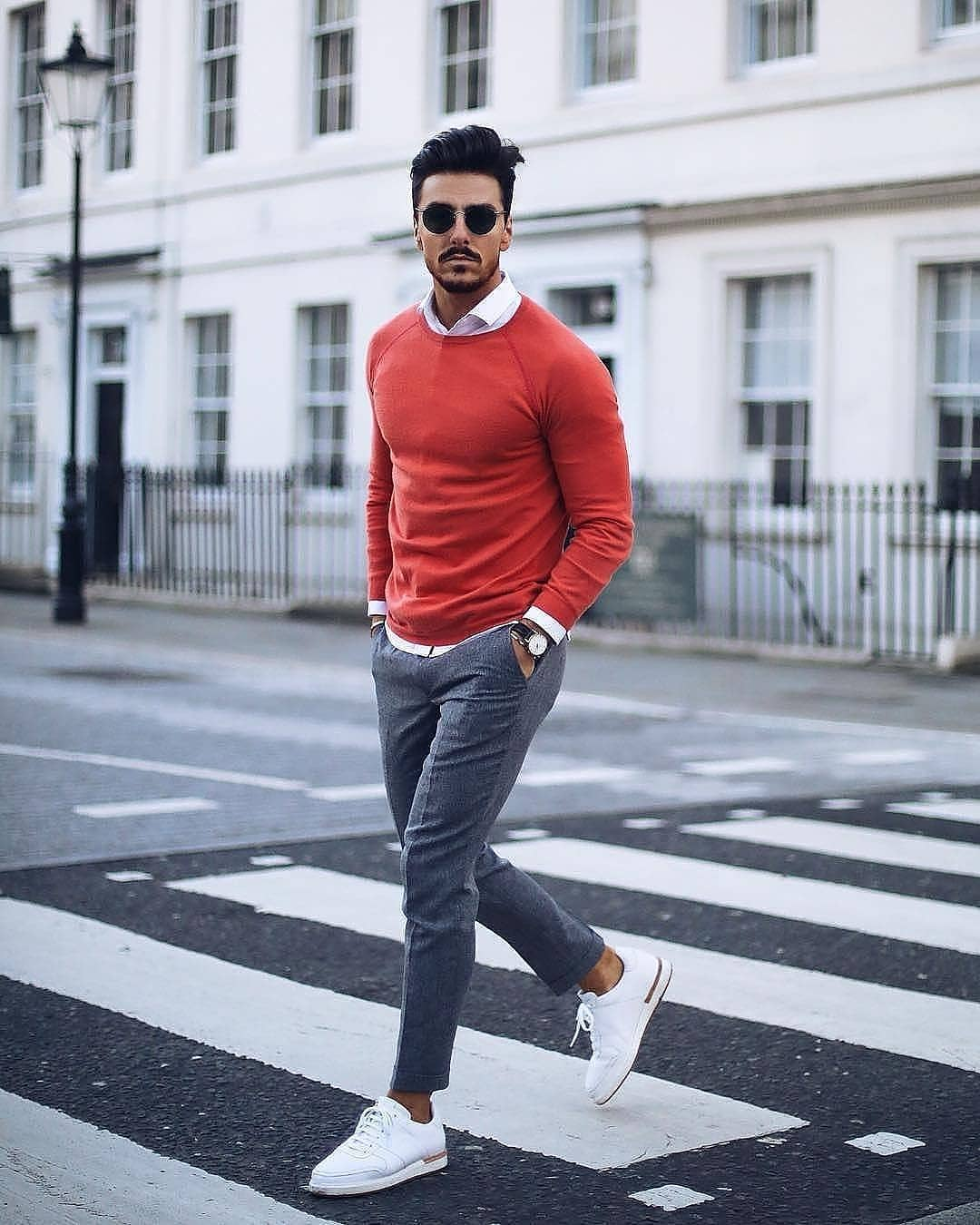 25 Outfits To Wear With White Sneakers For Men