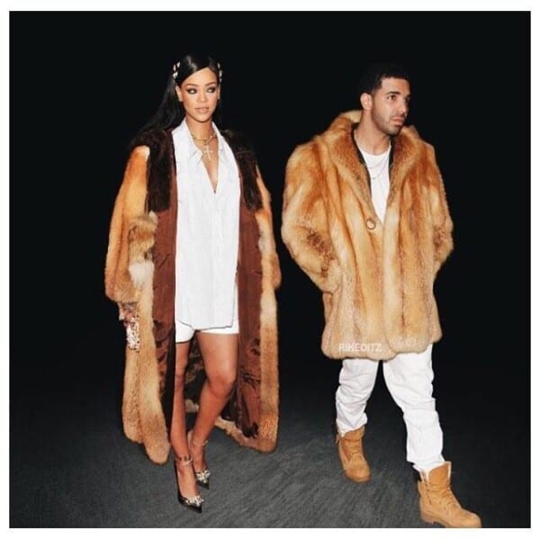 Drake-and-Rihanna-600x600 Celebrities Couples Matching Outfits–25 Couples Who Nailed It