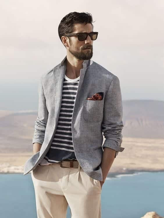Dress-Like-a-Model-on-the-Deck 24 Best Boating Outfits for Men - How to Dress for Boat Trip