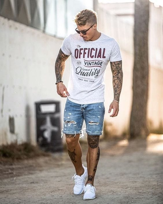 Ripped-Boho-Shorts-for-Boating 24 Best Boating Outfits for Men - How to Dress for Boat Trip
