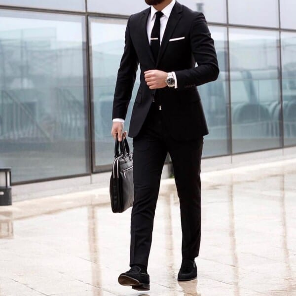 Shoes-with-plain-black-suit-600x600 Men's Business Casual Shoes Guide and 20 Tips for Perfect Look