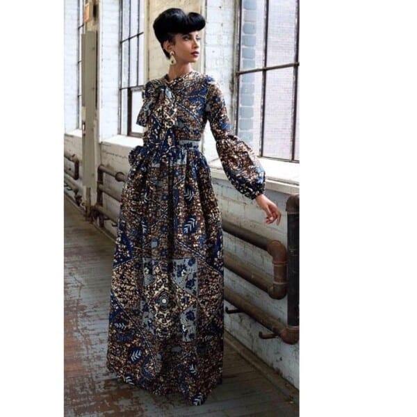 27 Kitenge Designs For Long Dresses (10)