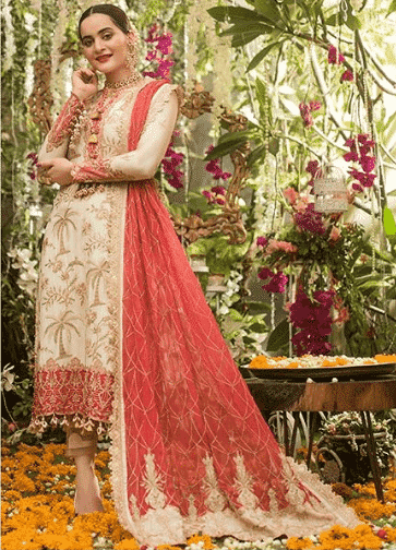 wedding-kurta-pajama 25 Best Women Kurta Pajama for Wedding Styles 2018