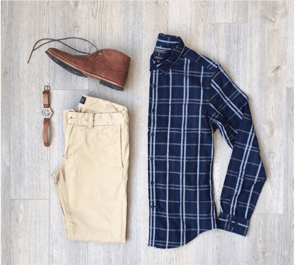 business-Casual-Outfit-600x537 30 Ideas How to Wear a Flannel Shirt for Men Stylishly