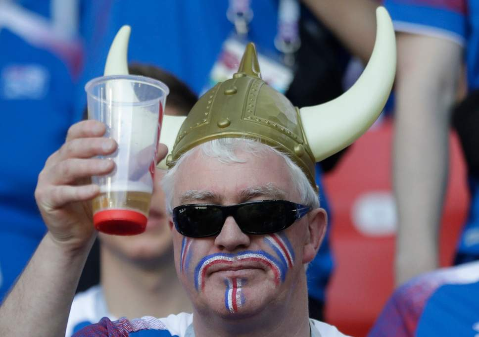 Fan-with-Bear-and-Horns 20 Funniest FIFA World Cup Russia 2018 Outfits