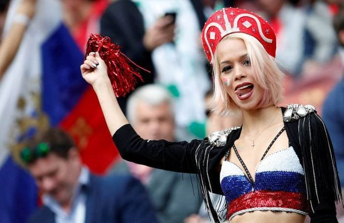 Glamorous-Russian-Fan-Girl 20 Funniest FIFA World Cup Russia 2018 Outfits