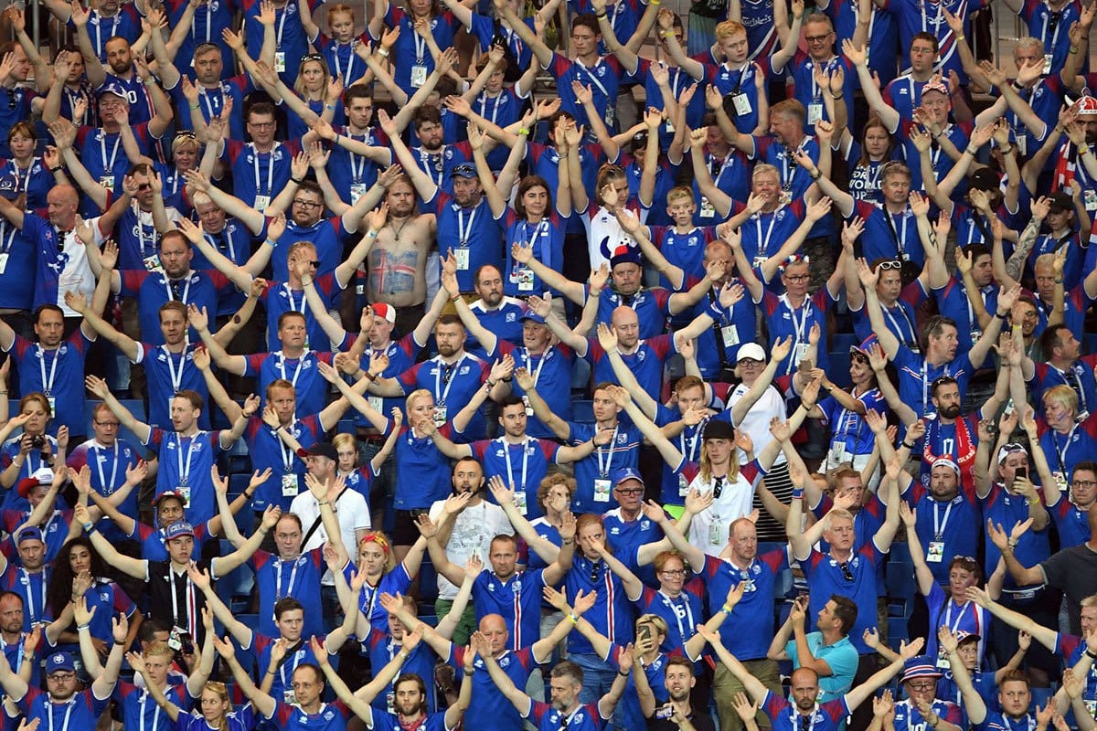 Iceland-Fan-with-a-Painted-Stomach 20 Funniest FIFA World Cup Russia 2018 Outfits