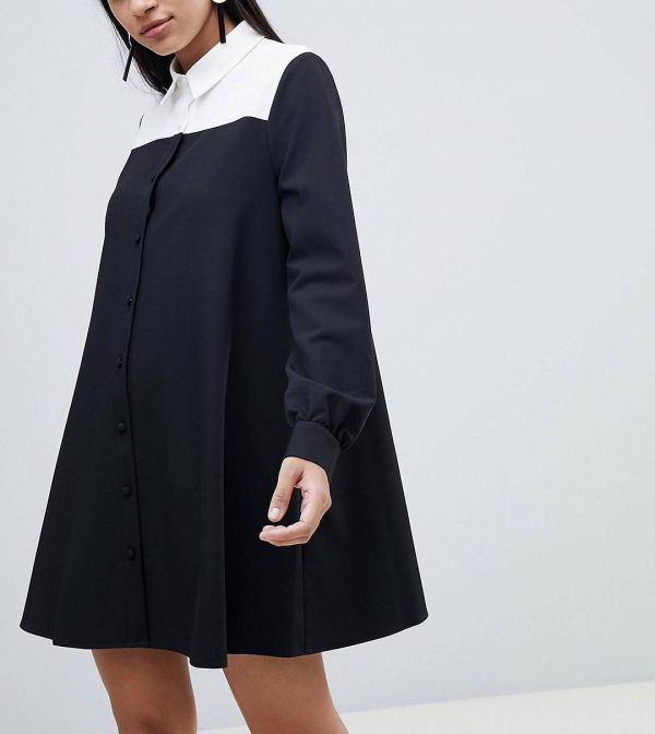 Shirt-Dress-600x672 30 Best Funeral Outfits for Teen Girls-What to Wear to Funeral