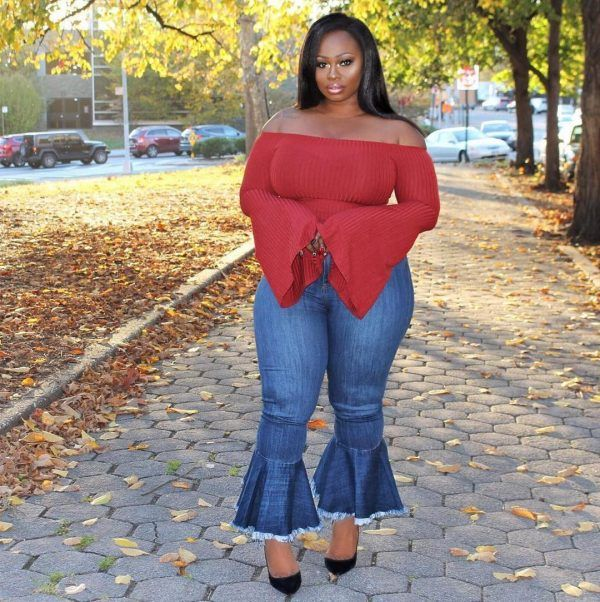 bell-bottoms-600x602 21 Best Winter Jeans Outfits for Plus-Sized Women to Stay Cool and Chic