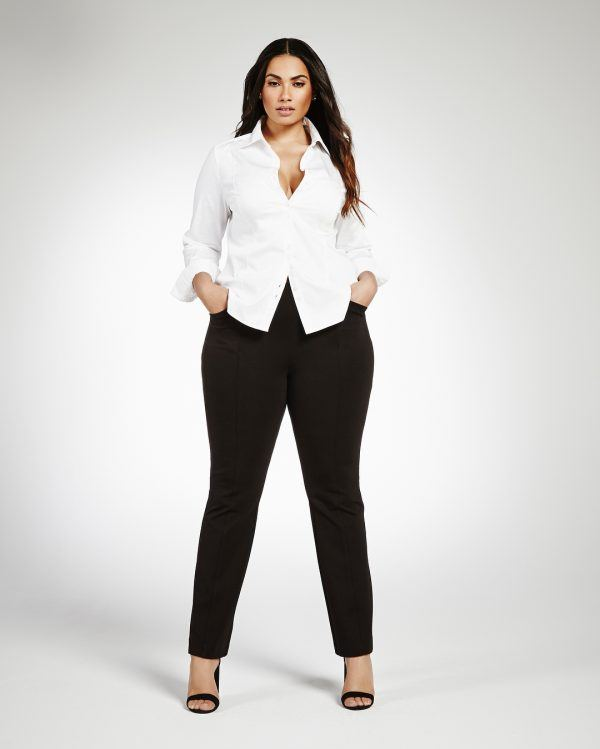 black-jeans-600x749 21 Best Winter Jeans Outfits for Plus-Sized Women to Stay Cool and Chic