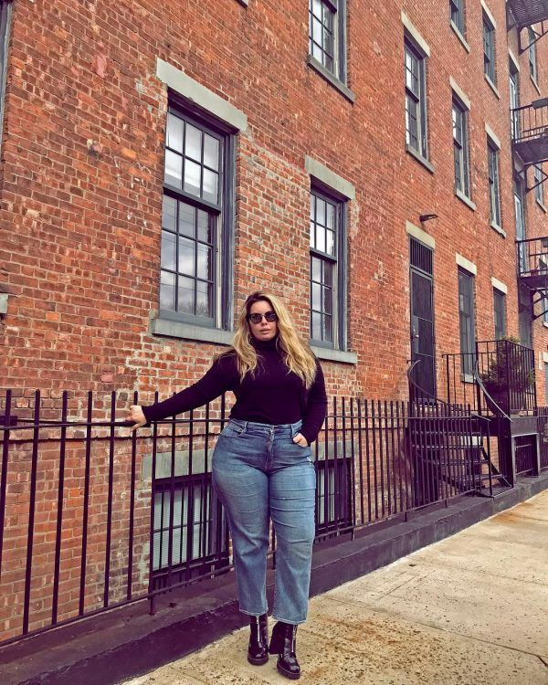 boyfriend-jeans-600x750 21 Best Winter Jeans Outfits for Plus-Sized Women to Stay Cool and Chic