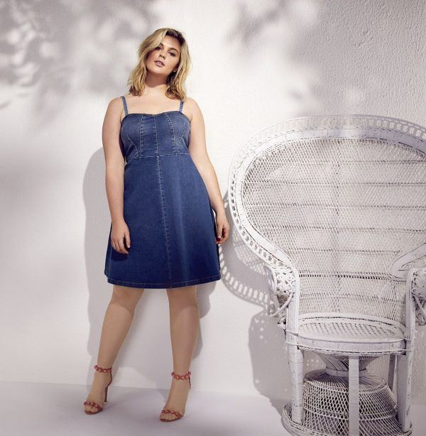 denim-dres-600x614 21 Best Winter Jeans Outfits for Plus-Sized Women to Stay Cool and Chic